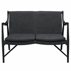 Modway Makeshift Upholstered Fabric Loveseat in Black Gray MY-EEI-1441-BLK-GRY