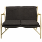 Modway Makeshift Upholstered Fabric Loveseat in Natural Brown MY-EEI-1441-NAT-BRN