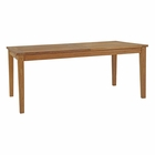 Modway Marina Extendable Outdoor Patio Premium Grade A Teak Wood Dining Table in Natural MY-EEI-2714-NAT