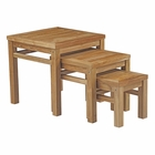 Modway Marina Outdoor Patio Premium Grade A Teak Wood Nesting Table in Natural MY-EEI-2704-NAT