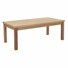 Modway Marina Outdoor Patio Premium Grade A Teak Wood Rectangle Coffee Table in Natural MY-EEI-1154-NAT