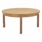 Modway Marina Outdoor Patio Premium Grade A Teak Wood Round Coffee Table in Natural MY-EEI-1153-NAT