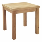 Modway Marina Outdoor Patio Premium Grade A Teak Wood Square Side Table in Natural MY-EEI-1155-NAT