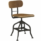 Modway Mark Wood Dining Stool in Brown MY-EEI-2044-BRN
