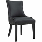 Modway Marquis Faux Leather Dining Chair in Black MY-EEI-2228-BLK
