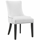 Modway Marquis Faux Leather Dining Chair in White MY-EEI-2228-WHI