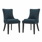 Modway Marquis Parsons Dining Side Chairs Upholstered Fabric Set of 2 in Azure MY-EEI-2746-AZU-SET