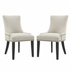 Modway Marquis Parsons Dining Side Chairs Upholstered Fabric Set of 2 in Beige MY-EEI-2746-BEI-SET