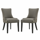 Modway Marquis Parsons Dining Side Chairs Upholstered Fabric Set of 2 in Granite MY-EEI-2746-GRA-SET