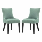Modway Marquis Parsons Dining Side Chairs Upholstered Fabric Set of 2 in Laguna MY-EEI-2746-LAG-SET