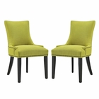 Modway Marquis Parsons Dining Side Chairs Upholstered Fabric Set of 2 in Wheatgrass MY-EEI-2746-WHE-SET