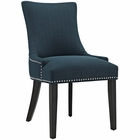 Modway Marquis Upholstered Fabric Dining Chair in Azure MY-EEI-2229-AZU