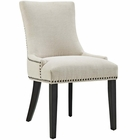 Modway Marquis Upholstered Fabric Dining Chair in Beige MY-EEI-2229-BEI