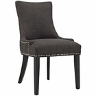 Modway Marquis Upholstered Fabric Dining Chair in Brown MY-EEI-2229-BRN