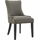 Modway Marquis Upholstered Fabric Dining Chair in Granite MY-EEI-2229-GRA