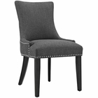 Modway Marquis Upholstered Fabric Dining Chair in Gray MY-EEI-2229-GRY
