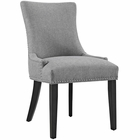 Modway Marquis Upholstered Fabric Dining Chair in Light Gray MY-EEI-2229-LGR