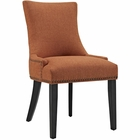 Modway Marquis Upholstered Fabric Dining Chair in Orange MY-EEI-2229-ORA