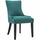 Modway Marquis Upholstered Fabric Dining Chair in Teal MY-EEI-2229-TEA