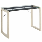 Modway Medley Glass Top Writing Desk in Natural Clear MY-EEI-2783-NAT-CLR