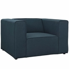 Modway Mingle Upholstered Fabric Armchair in Blue MY-EEI-2718-BLU