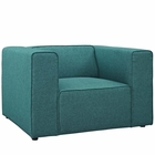 Modway Mingle Upholstered Fabric Armchair in Teal MY-EEI-2718-TEA