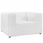 Modway Mingle Upholstered Fabric Armchair in White MY-EEI-2718-WHI