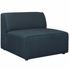 Modway Mingle Upholstered Fabric Armless Sofa in Blue MY-EEI-2724-BLU