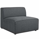 Modway Mingle Upholstered Fabric Armless Sofa in Gray MY-EEI-2724-GRY