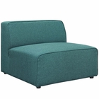 Modway Mingle Upholstered Fabric Armless Sofa in Teal MY-EEI-2724-TEA