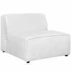 Modway Mingle Upholstered Fabric Armless Sofa in White MY-EEI-2724-WHI