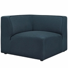 Modway Mingle Upholstered Fabric Corner Sofa in Blue MY-EEI-2728-BLU