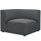 Modway Mingle Upholstered Fabric Corner Sofa in Gray MY-EEI-2728-GRY