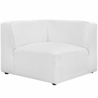 Modway Mingle Upholstered Fabric Corner Sofa in White MY-EEI-2728-WHI