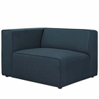 Modway Mingle Upholstered Fabric Left-Facing Sofa in Blue MY-EEI-2720-BLU