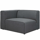 Modway Mingle Upholstered Fabric Left-Facing Sofa in Gray MY-EEI-2720-GRY
