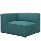 Modway Mingle Upholstered Fabric Left-Facing Sofa in Teal MY-EEI-2720-TEA