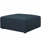 Modway Mingle Upholstered Fabric Ottoman in Blue MY-EEI-2726-BLU