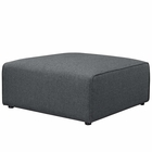 Modway Mingle Upholstered Fabric Ottoman in Gray MY-EEI-2726-GRY