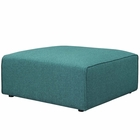 Modway Mingle Upholstered Fabric Ottoman in Teal MY-EEI-2726-TEA