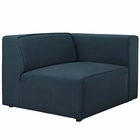 Modway Mingle Upholstered Fabric Right-Facing Sofa in Blue MY-EEI-2722-BLU