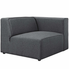 Modway Mingle Upholstered Fabric Right-Facing Sofa in Gray MY-EEI-2722-GRY