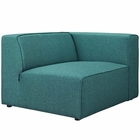 Modway Mingle Upholstered Fabric Right-Facing Sofa in Teal MY-EEI-2722-TEA