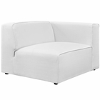Modway Mingle Upholstered Fabric Right-Facing Sofa in White MY-EEI-2722-WHI