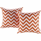 Modway Modway Two Piece Outdoor Patio Throw Pillows Set of 2 in Chevron MY-EEI-2401-CHE