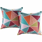 Modway Modway Two Piece Outdoor Patio Throw Pillows Set of 2 in Mosaic MY-EEI-2401-MOS
