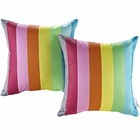 Modway Modway Two Piece Outdoor Patio Throw Pillows Set of 2 in Rainbow MY-EEI-2401-RAN