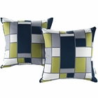 Modway Modway Two Piece Outdoor Patio Throw Pillows Set of 2 in Rectangle MY-EEI-2401-REC