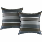 Modway Modway Two Piece Outdoor Patio Throw Pillows Set of 2 in Stripe MY-EEI-2401-STR
