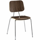 Modway Motive Dining Wood Side Chair in Walnut MY-EEI-576-WAL